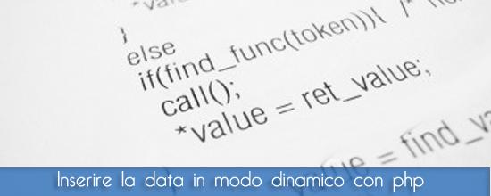 Guida Php: inseriamo data e ora in modo dinamico con PHP