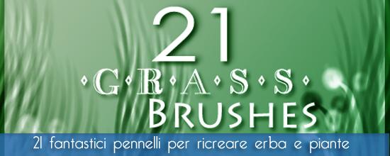 Grass brushes free – Una bellissima raccolta di pennelli floreali dedicati a erba e piante