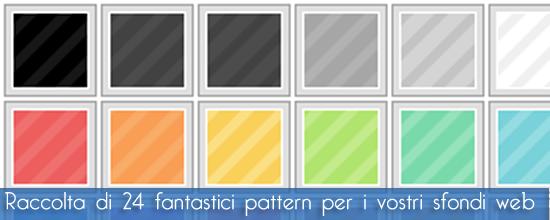 24 pattern eleganti da usare come sfondo per i vostri siti internet