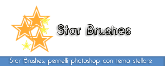 Star brushes: bellissimo set di pennelli per photoshop e gimp