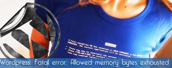 Fatal error: Allowed memory size in WordPress 3.0