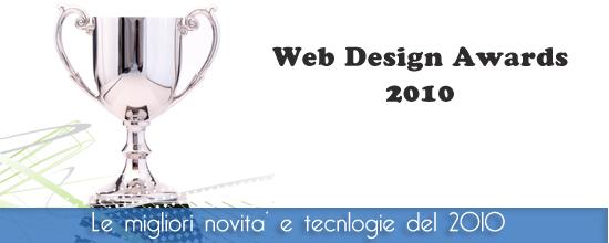 Web Design Awards 2010 : I migliori del 2010