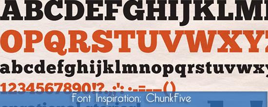 Font Inspiration: ChunckFive, font tipografico e d'impatto
