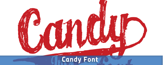 Font design inspiration: Candy Font