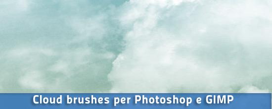 Pennelli nuvole per Photoshop e GIMP