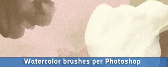 Pennelli ad acquarello per Photoshop e GIMP