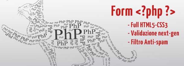 Creare un form PHP in html5 – Css3 con validazione e antispam