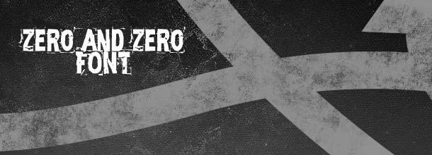 Grunge font free per web designer : Zero and zero