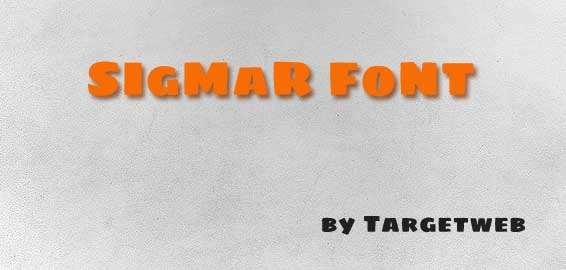 Font retrò gratuito: Sigmar