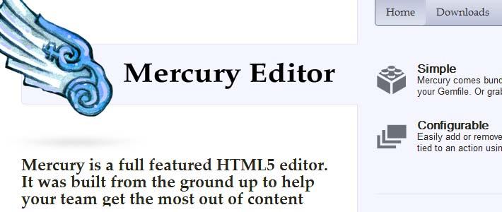 Mercury: un editor completo in Html5