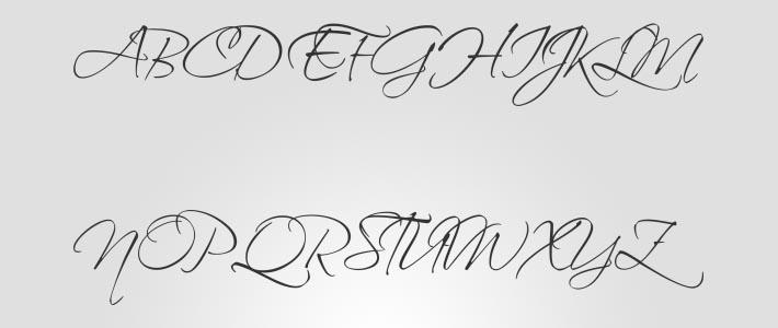 Font calligrafico per loghi: Scriptina Pro