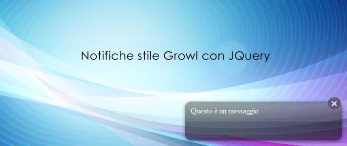Notifiche popup stile growl con jQuery