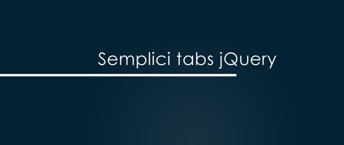 Creare delle semplici tab animate con JQuery