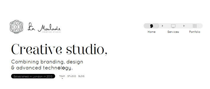 Site inspiration per web agency: La Moulade