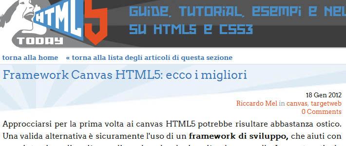 Sviluppare con i canvas html5: ecco i migliori framework