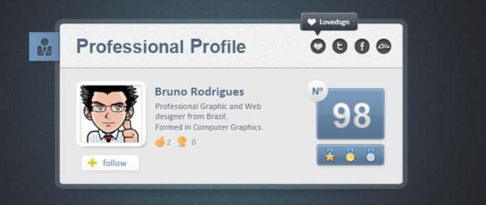 Profilo personale in PSD per i vostri progetti e cms