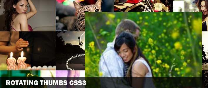 Animazioni Css3: Rotating Image Gallery Plugin