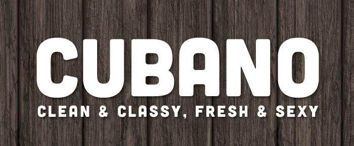 Font tipografico free: Cubano font
