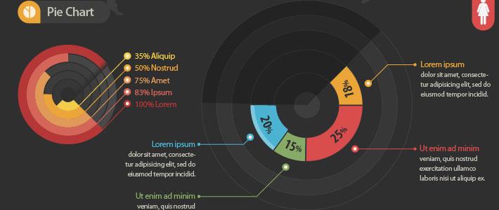 Elementi per infografica in PSD free