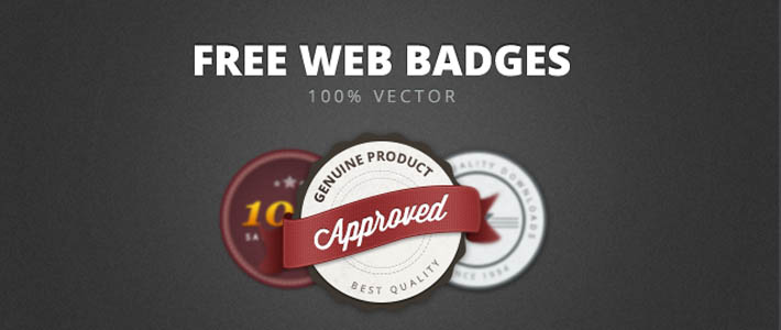 Web Badges Vettoriali gratuiti per loghi o design retrò