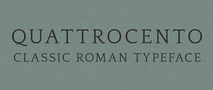 Font Gratuito Retrò ed elegante: Quattrocento