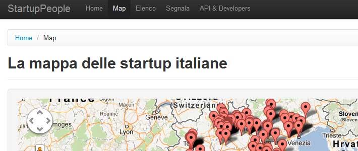 Mappa e lista delle principali startup italiane