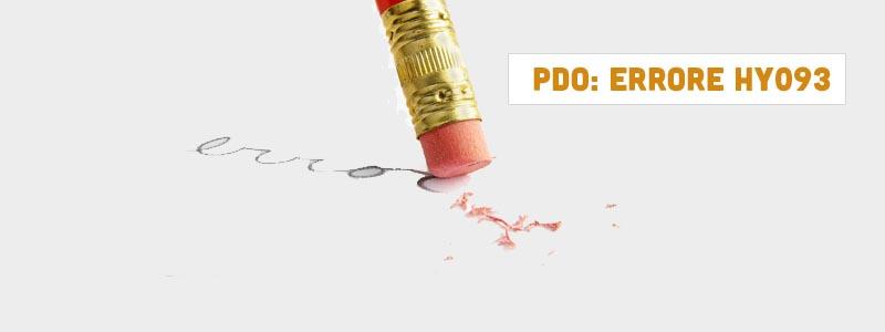 Errori PDO: HY093 analizziamo come risolverlo