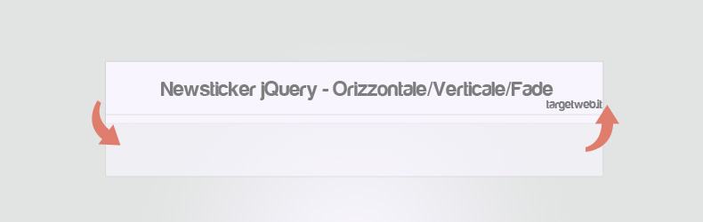 jQuery – Creare un news ticker orizzontale o verticale
