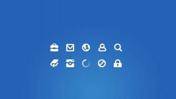 Set di icone free minimal per web designer