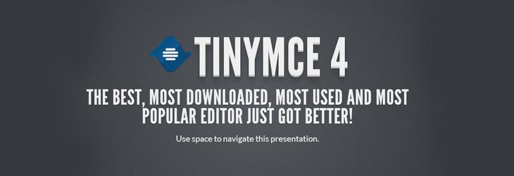 Rilasciato TinyMCE4: ecco le novità