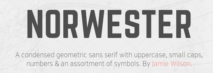 Norwester: nuovo font condensed di notevole impatto per loghi o titoli