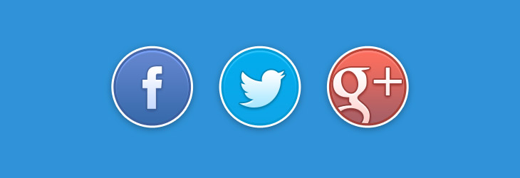 Social round icon circolari in formato PSD
