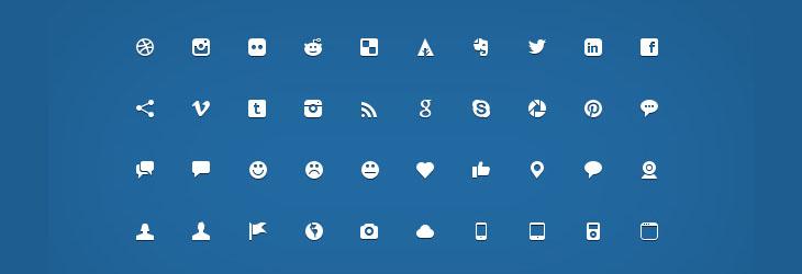 200 micro-icone minimal gratuite