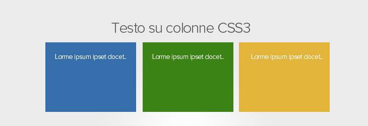 Css3 impaginare testo su più colonne