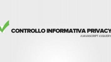 Controllo informativa per la privacy con javascript