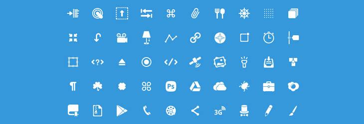 50 Nuove icone creative per web designer