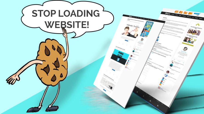 Bloccare caricamento pagina per Cookie Policy