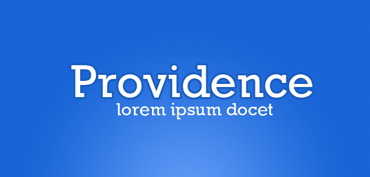 Font creativo e clean web design: Providence font